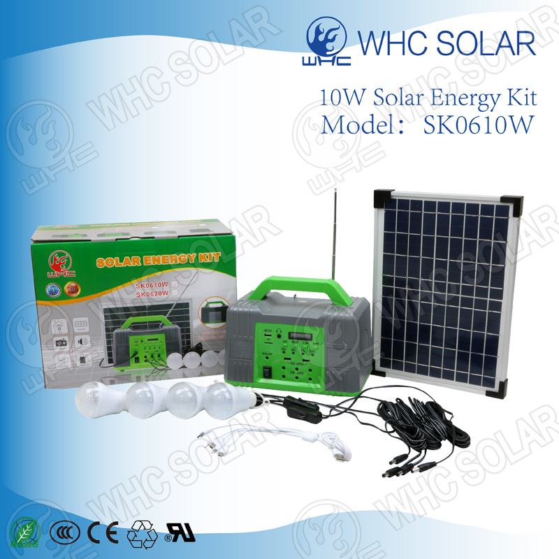 China Multifunctional 10W Solar Home Lighting Kit Small Rechargeable ...
