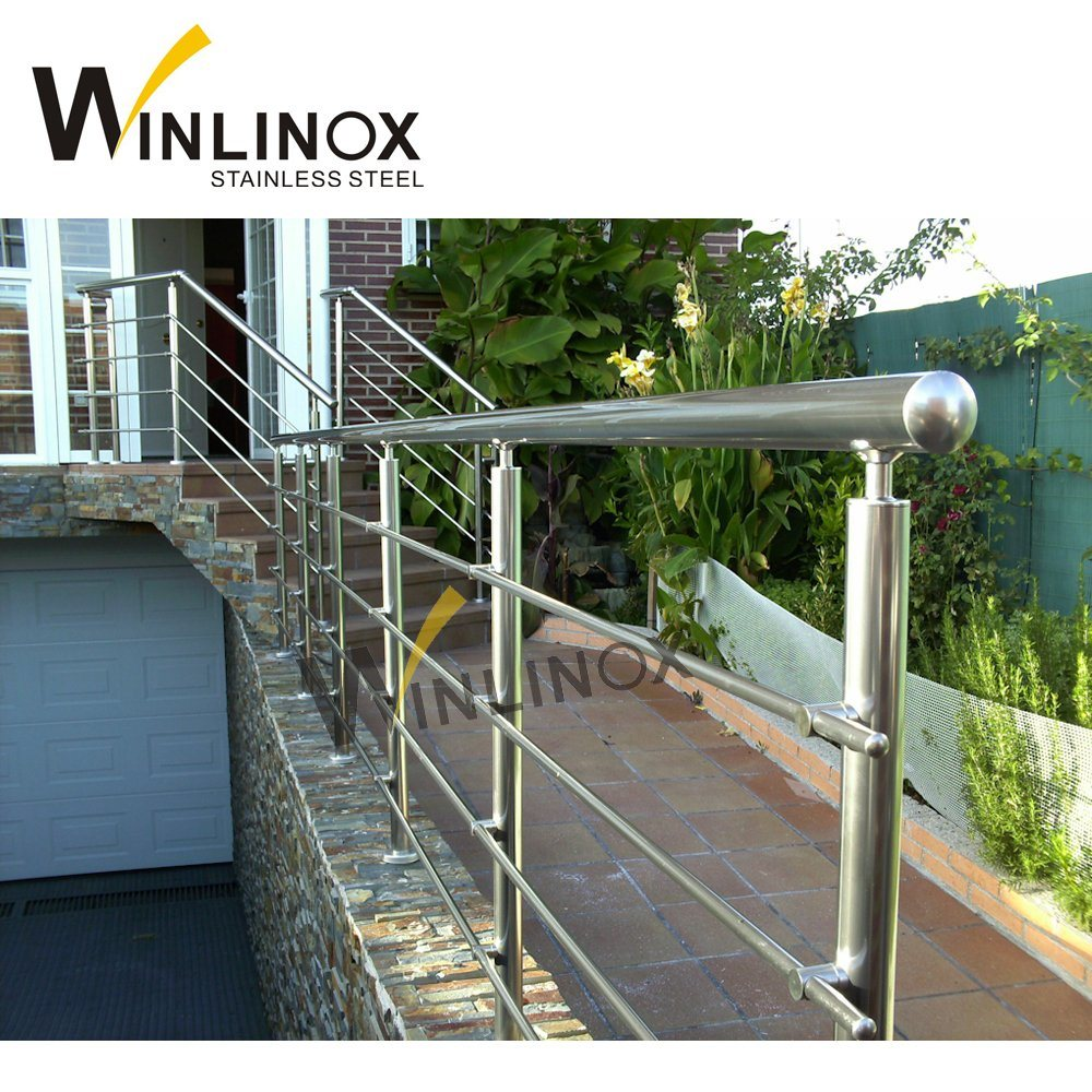 China Outdoor Steps Stainless Steel Handrail Pipe Balustrade Baluster - China Stainless Steel ...