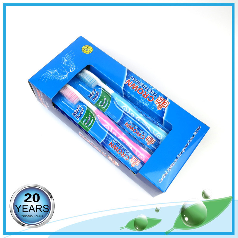 Transparent Soft Rubber High Class Adult Toothbrush pictures & photos
