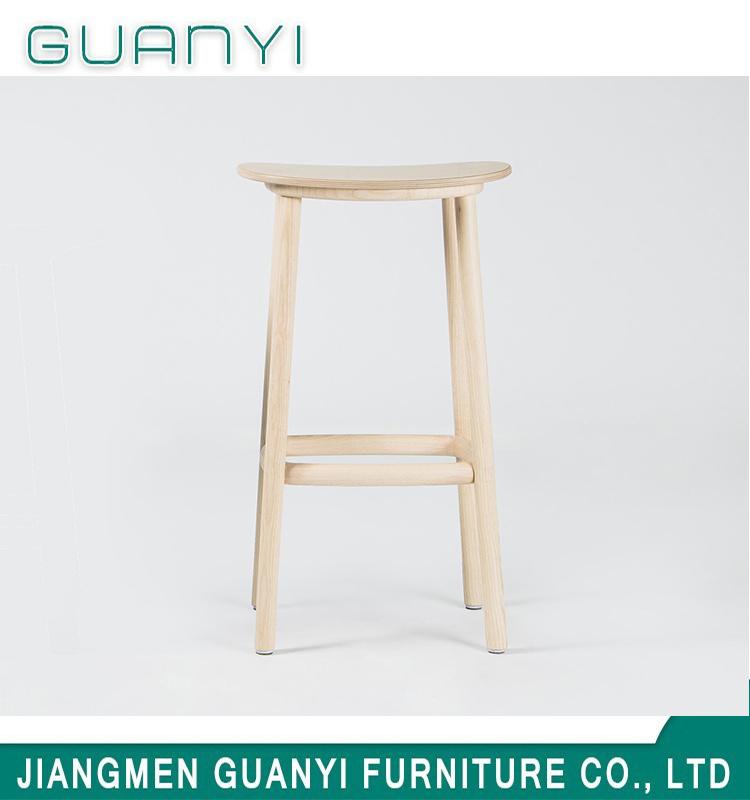 Super Hot Item Mid Century Modern Ash Wood Round Back Counter Stool Dailytribune Chair Design For Home Dailytribuneorg