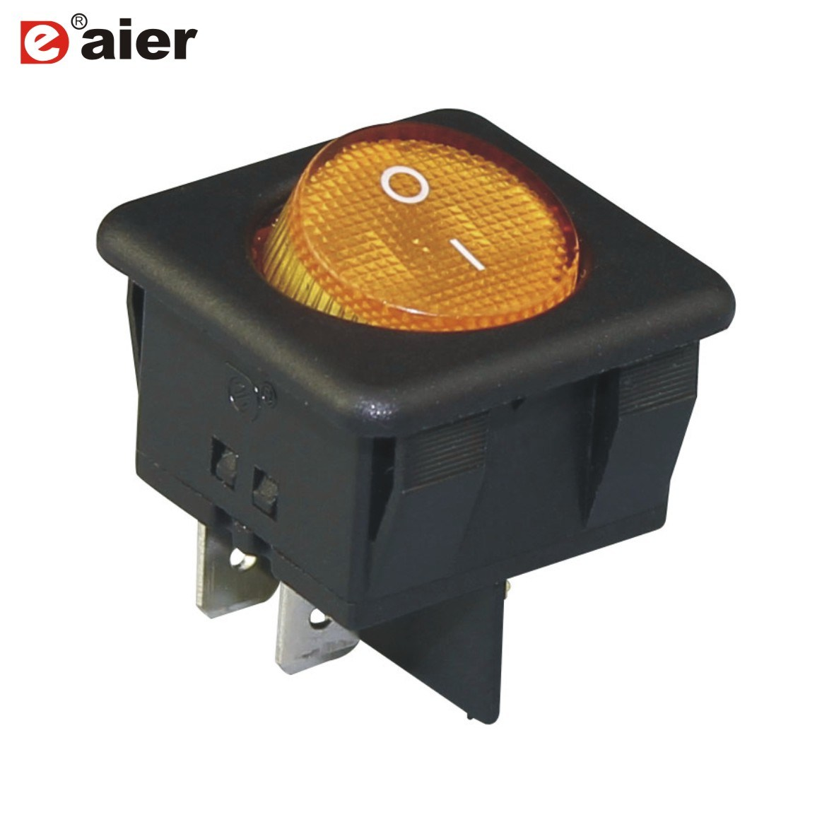 China On Off Lighted 12v 4 Pin Round Rocker Switch T85 1e4 Spst Onoff 20a 12vdc Green