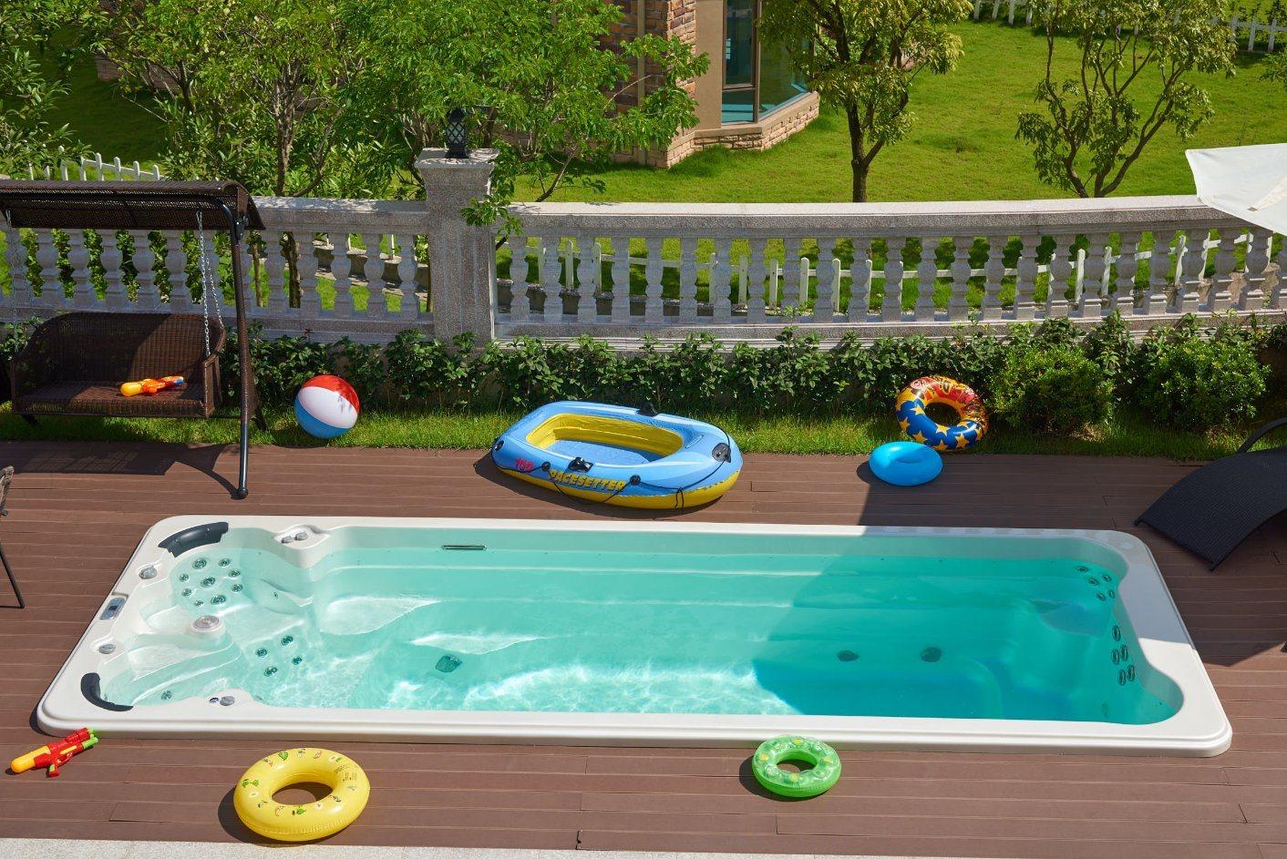 Best Selling 5 8meter Long Pool Jacuzzi Swimming Spa China Swim Spa Swimming Pool Made In China Com
