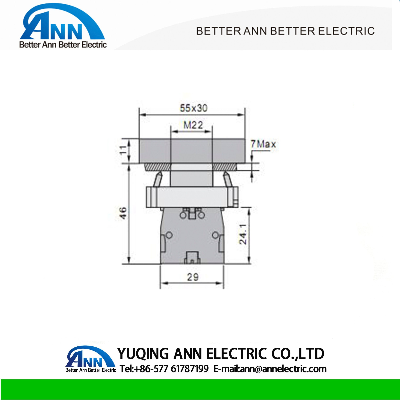 China Lay5 Xb2 Bl8325 Bl8425 Pushbutton Switch Flush Button
