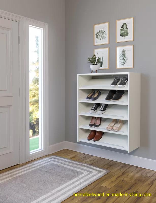 Wall Mounted Shoe Storage Rack Shelf