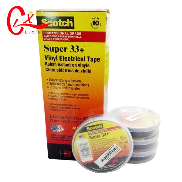 [Hot Item] Original 3m Brand Super 33+ Black Vinyl Electrical Insulation  Tape