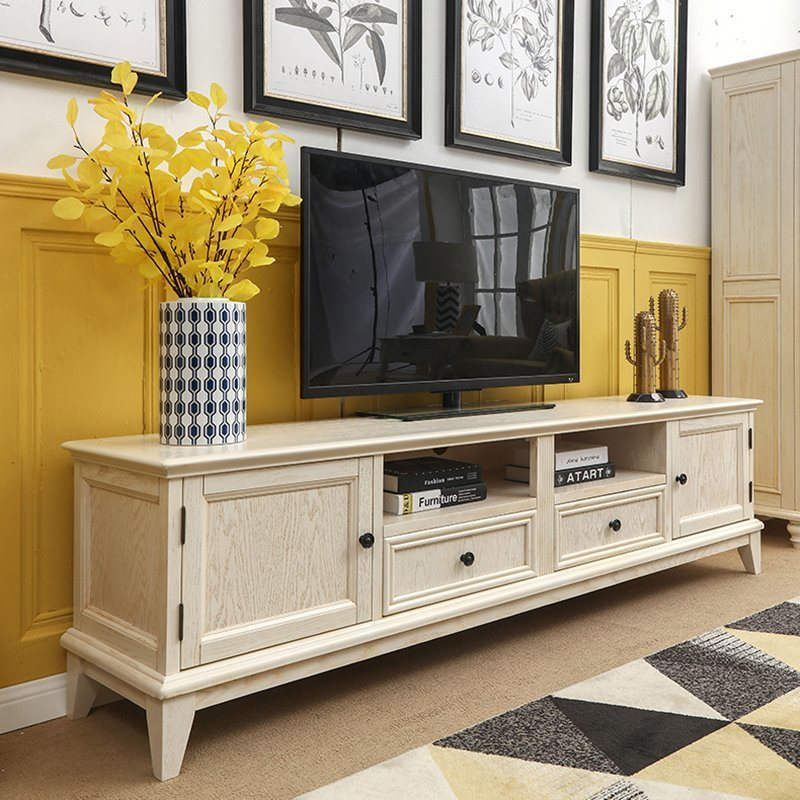 Rectangle Retro Wooden Tv Stand, Large Living Room Layout Ideas With Tv Stand Decorations