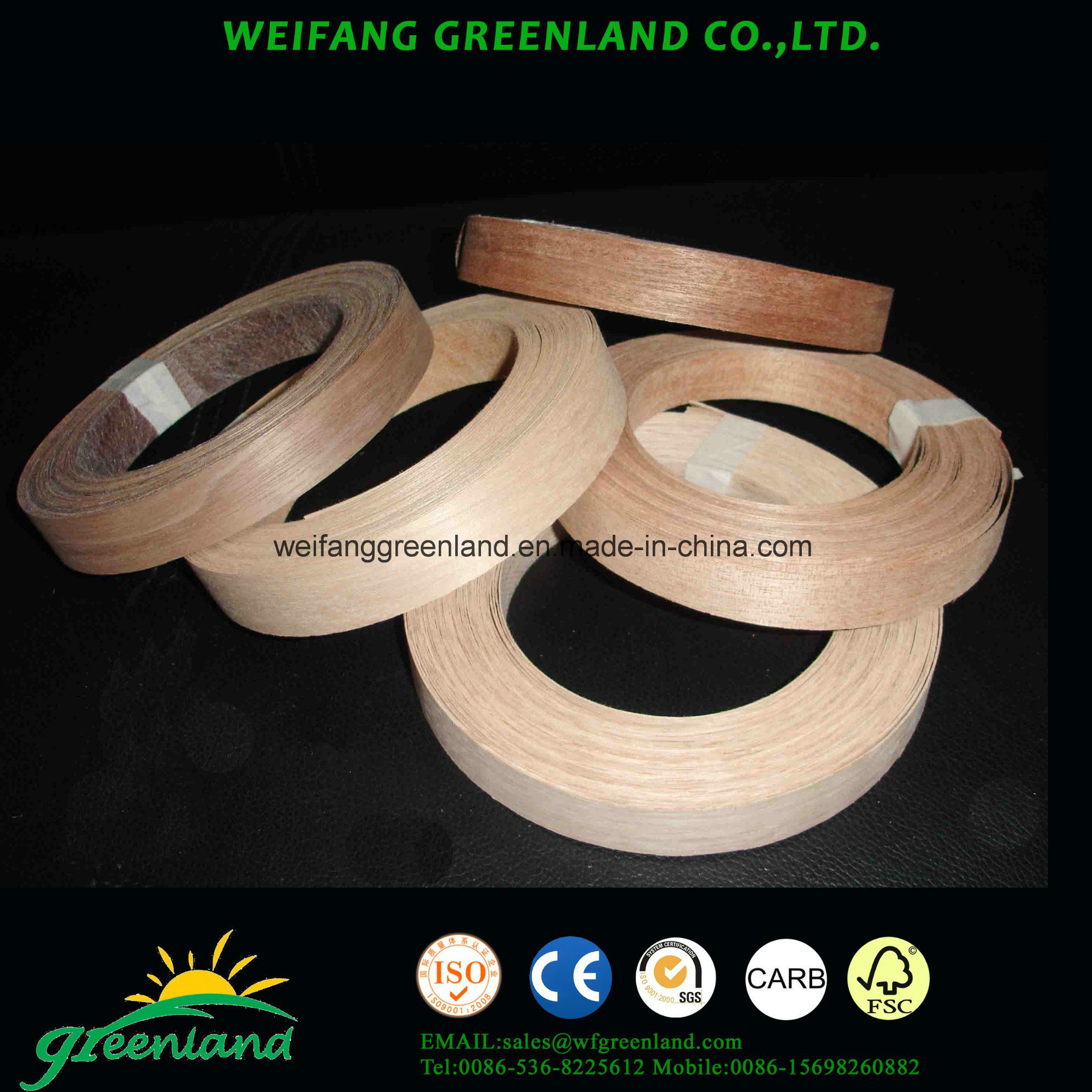 Teak Wood Veneer Edge Banding Tapes for Furmiture Produce