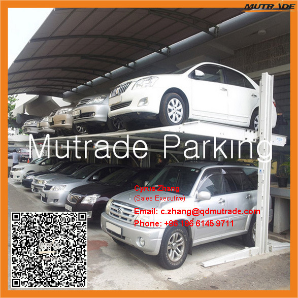 High Quality 2 Floors 2 Columns USA Mobile Machine Car Dealer Two Post Car Workshop Lift pictures & photos