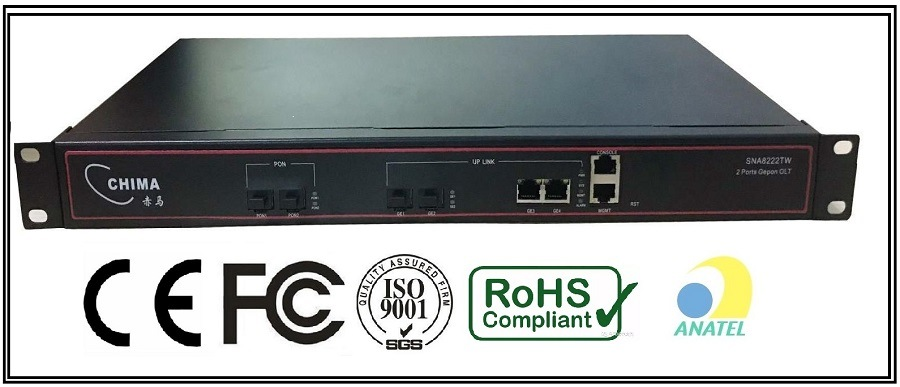 China Gpon Olt Compatible with Huawei Fiberhome 2 Pon Ports FTTH