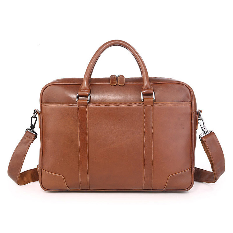 good texture closer at latest design [Hot Item] Factotry Price Brown Mens Designer Bags Leather Laptop Briefcase