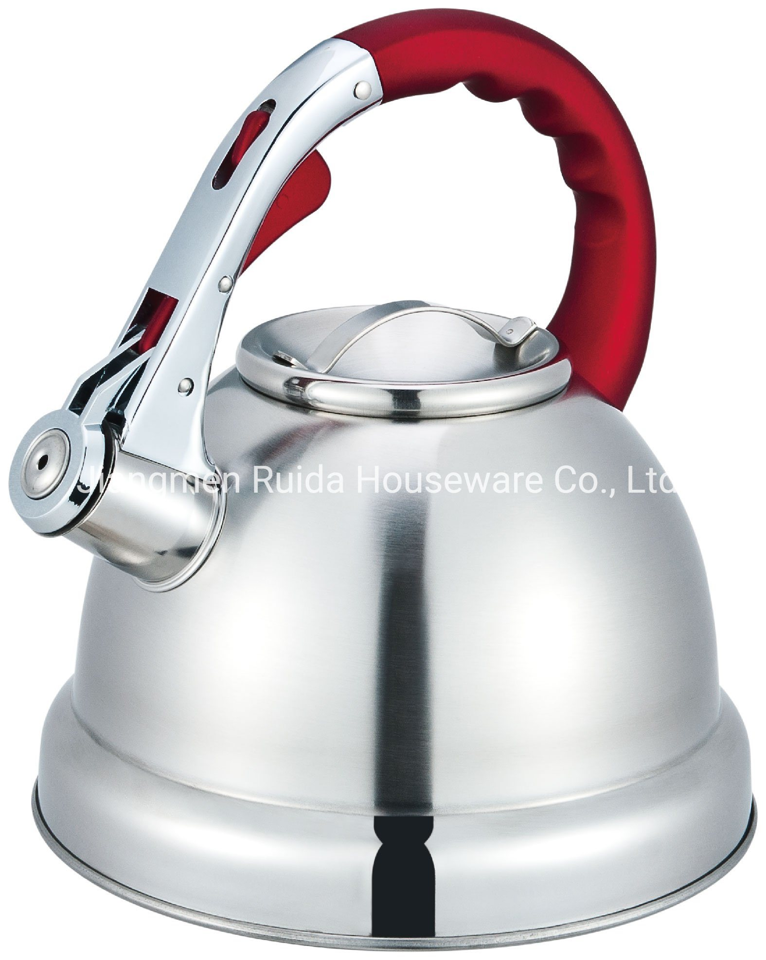 China Kitchen Appliance 3 0l Stainless Steel Whistling Teapot In Color Painting Handles China Stainless Steel Teapot And Kettle Price