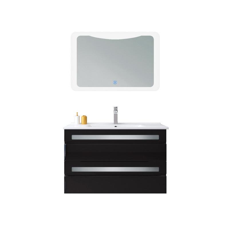 China Led Mirrored Bathroom Vanity, Black Mirrored Bathroom Cabinet