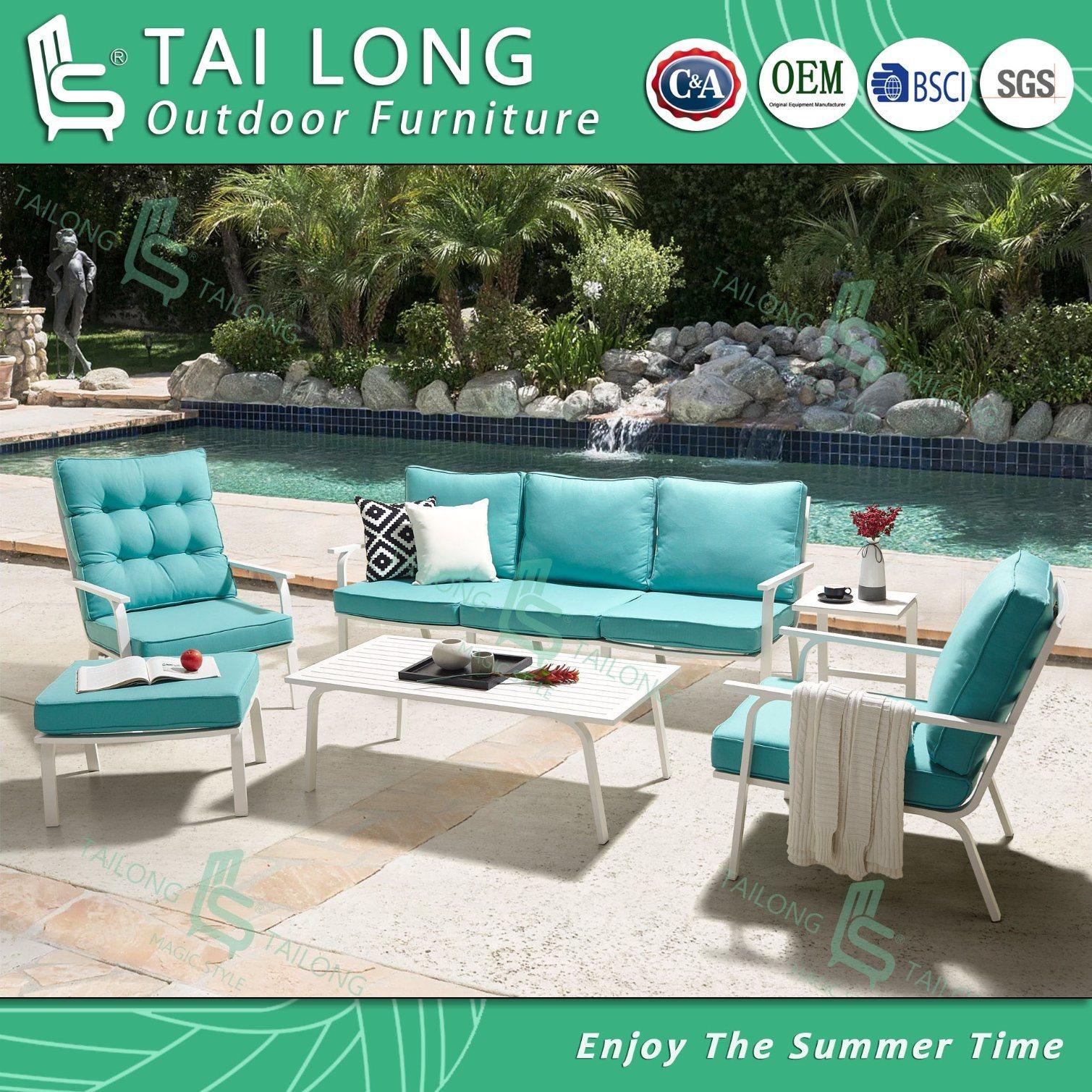 - Chinese Outdoor Sofa Set With Cushion Garden Lounge Sofa Patio