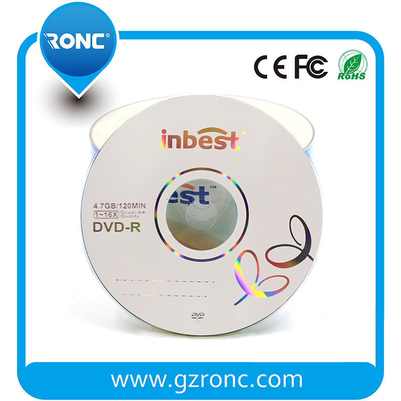 Inbest Brand Wholesale 4.7GB DVDR Blank DVD 16X Speed pictures & photos