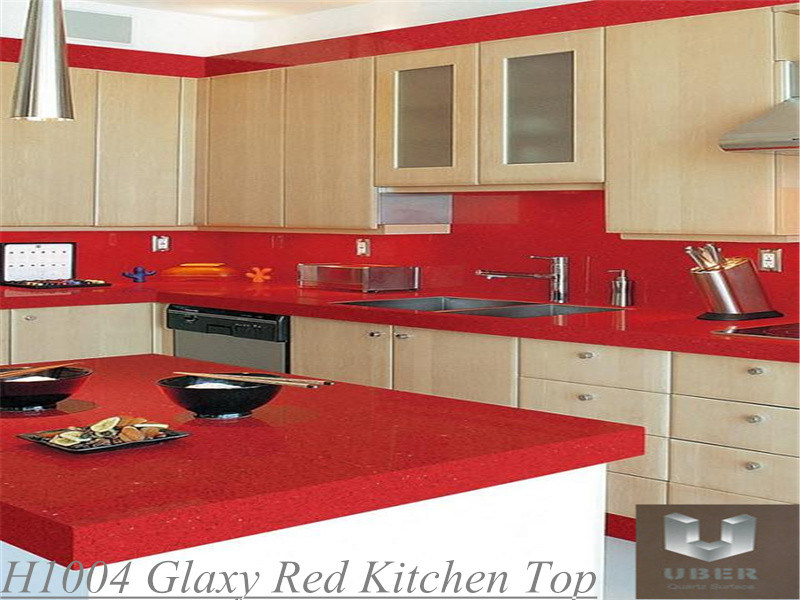 China Uber Quartz For Kitchen Tops