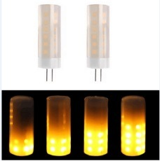 Simva LED Flicker Flame Effect Light G9 with Upside Down Effect LED Flickering Bulb Simulated Decorative