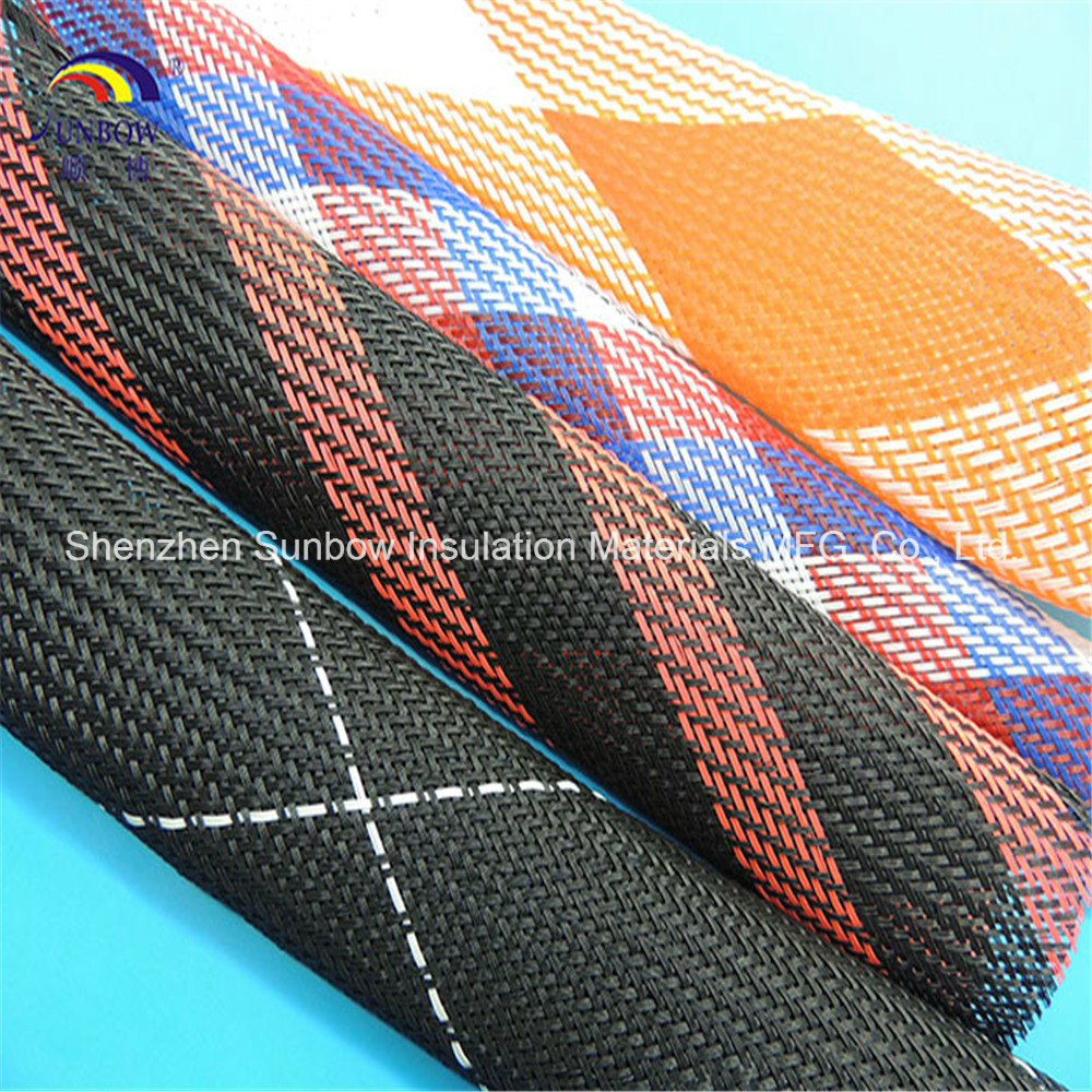 Colorful Pet Expandable Fishing Rod Covers Braided Protection Sleeving