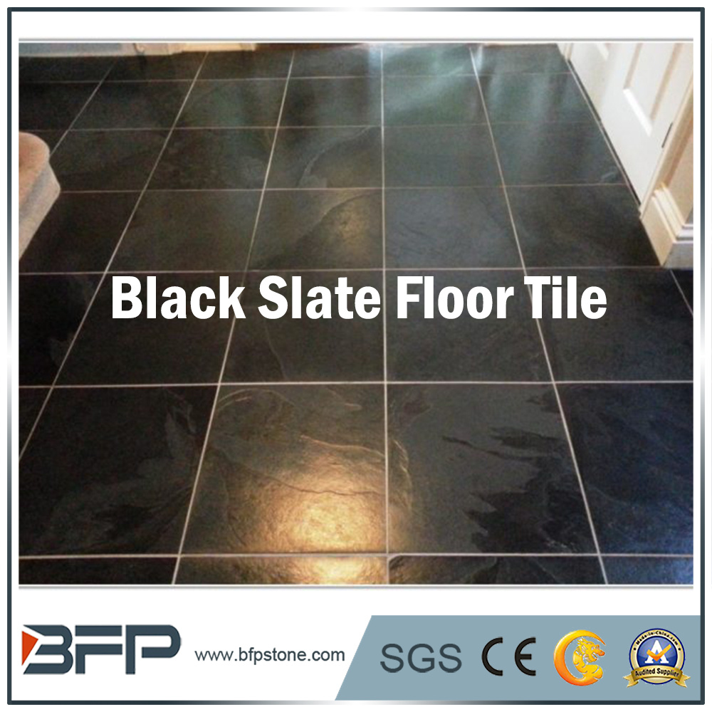 China Irregular Shaped Natural Slate Flooring Tile For Interior