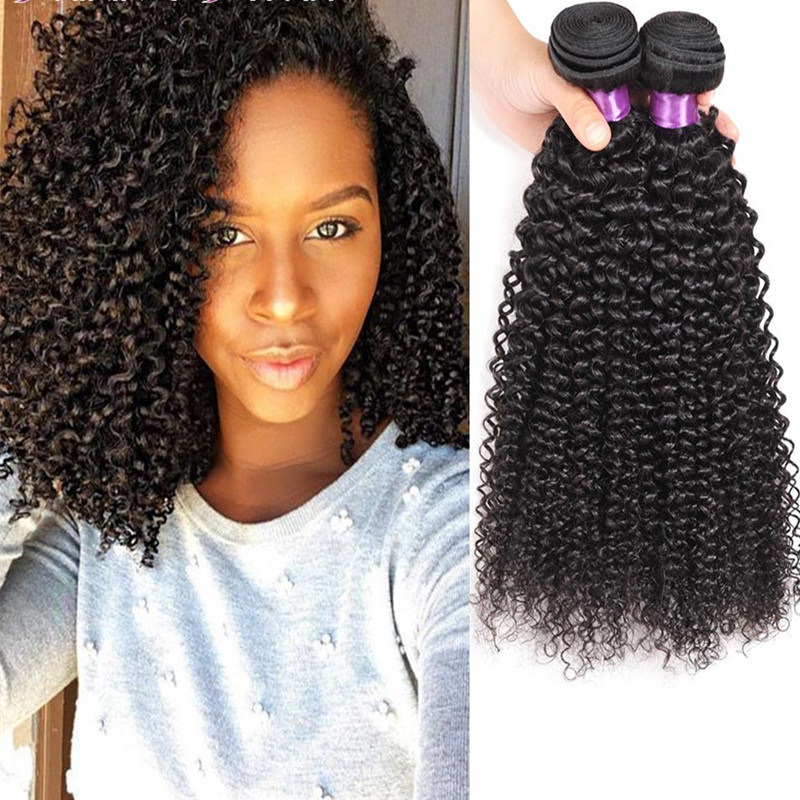 China Beauty 1 Piece Mongolian Afro Kinky Curly Human Hair Weaving