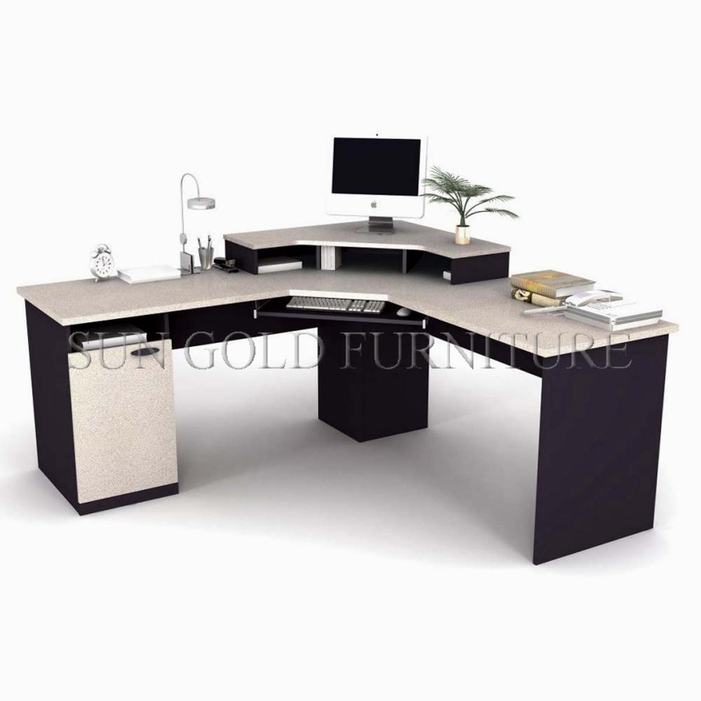 - China Modern Desk Guangdong Modular Wooden Corner Computer Desk
