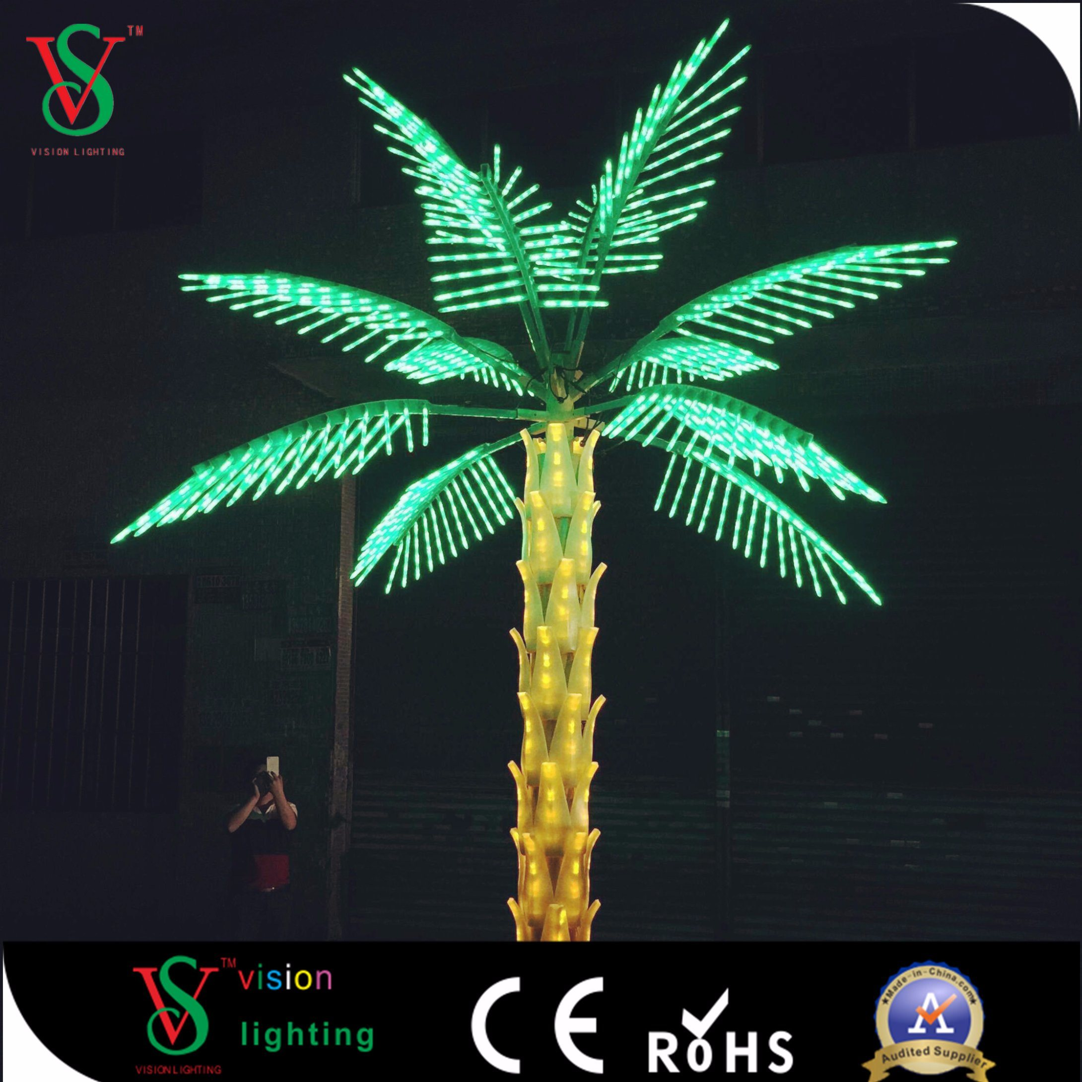 China 24v Outdoor Led Palm Tree Light Christmas Lighting