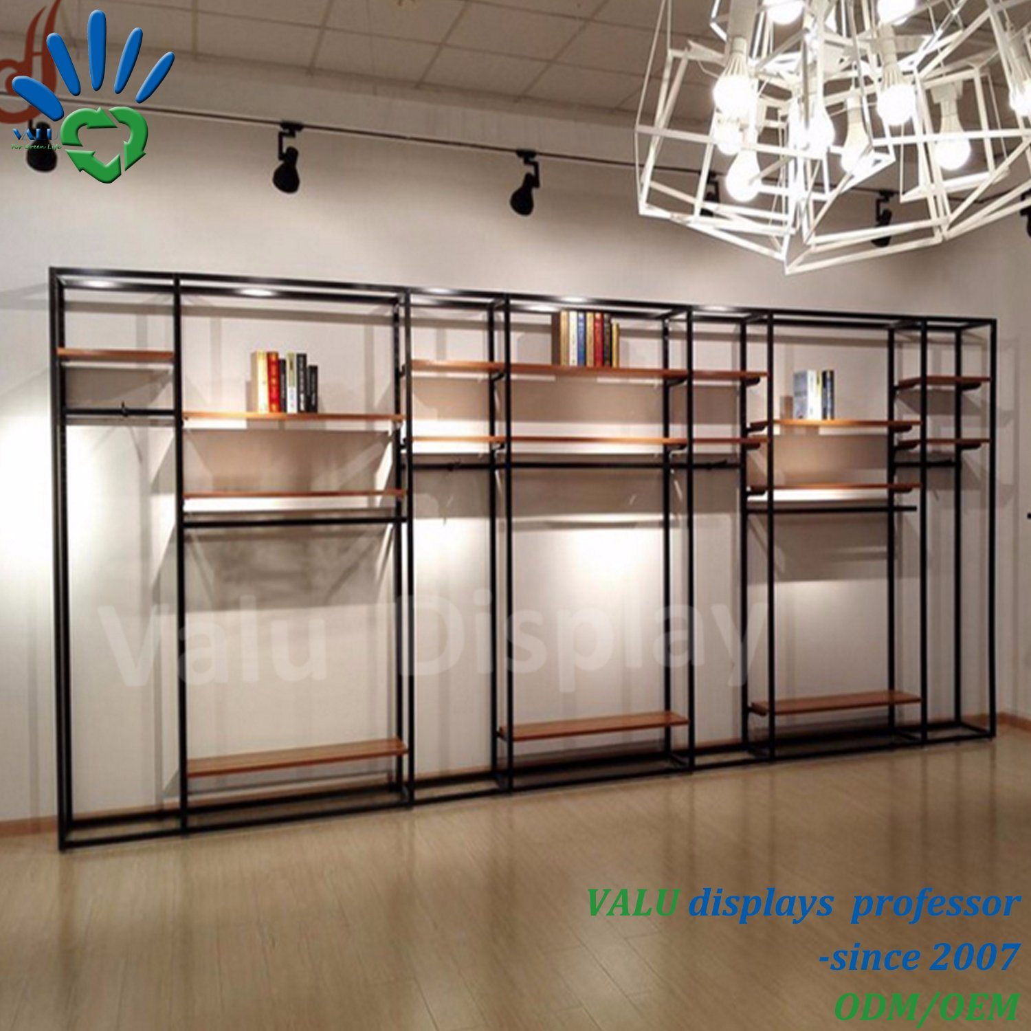 f627fe88a61 China Custom Design Clothing Store Metal Display Stand Rack Photos ...