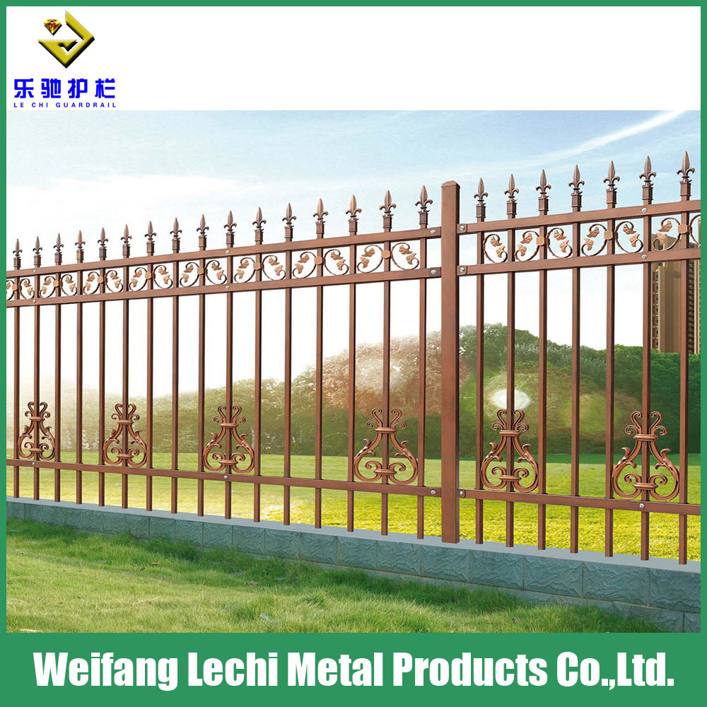 China modern design hot dipped galvanized steel fencing for playground farm garden villa swimming pool china fencing steel fencing