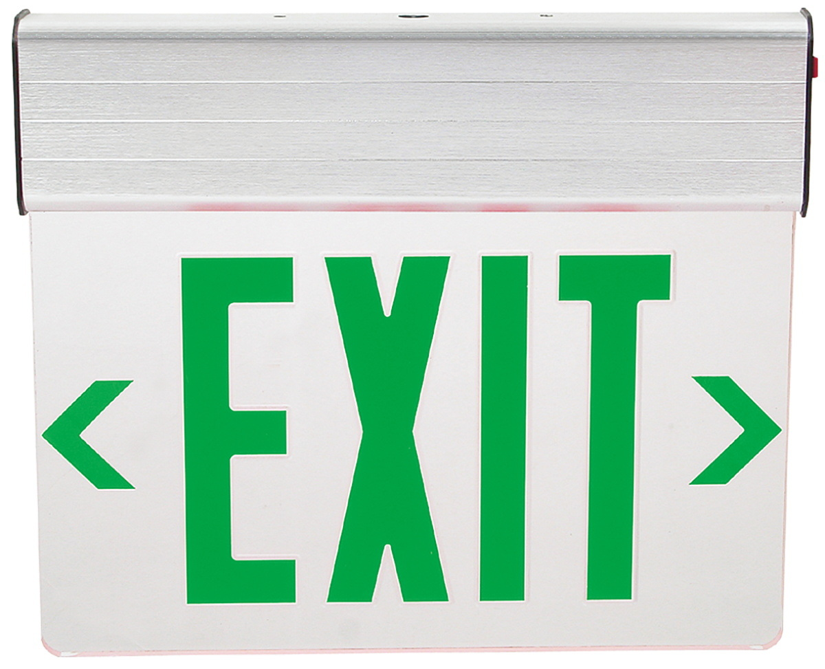 Edge-Lit Transparent Acrylic Panel LED Exit Sign