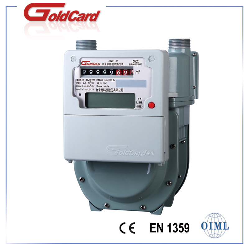 Smart IC Card Prepayment Diaphragm Gas Meter-G2.5