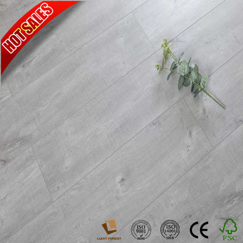 China Easy Laminate Flooring Canadia White Oak Printing Edge Hardwood Building Material