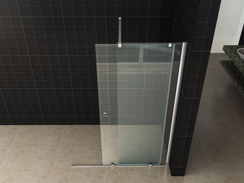 China Clear Tempered Glass Frameless Sliding Door Walk In Shower