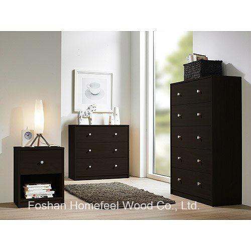 China 3 Piece Bedroom Furniture Wooden Dresser Set In Black China Bedroom Set Bedroom Furniture