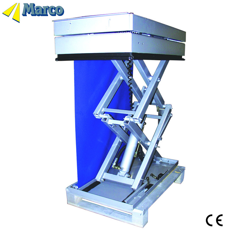 CE Approved Marco High Scissor Lift Table with Curtain
