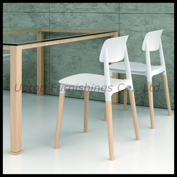 Peachy Hot Item Wholesale Solid Wooden Leg Plastic Seat White Cafe Chair Sp Uc018 Alphanode Cool Chair Designs And Ideas Alphanodeonline