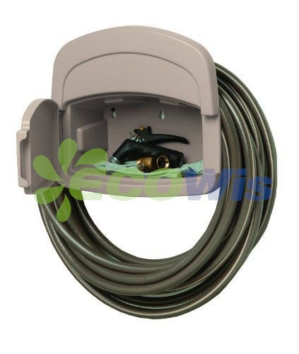 Wall Mounted Garden Hose Hanger With Cabinet
