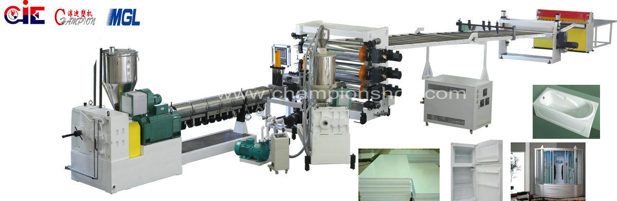 High Quality ABS /HIPS / PMMA Plastic Sheet Extruding Machine