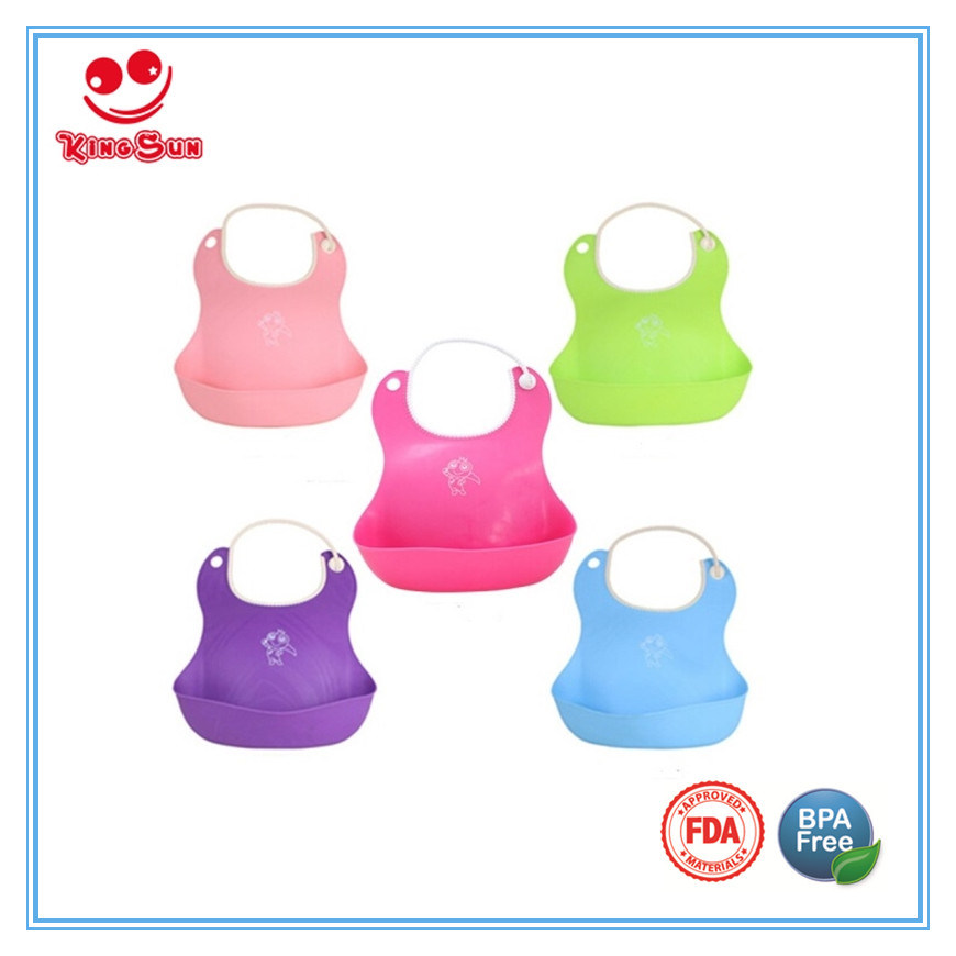 BPA Free Water-Proof Soft Baby Bib FDA Approved