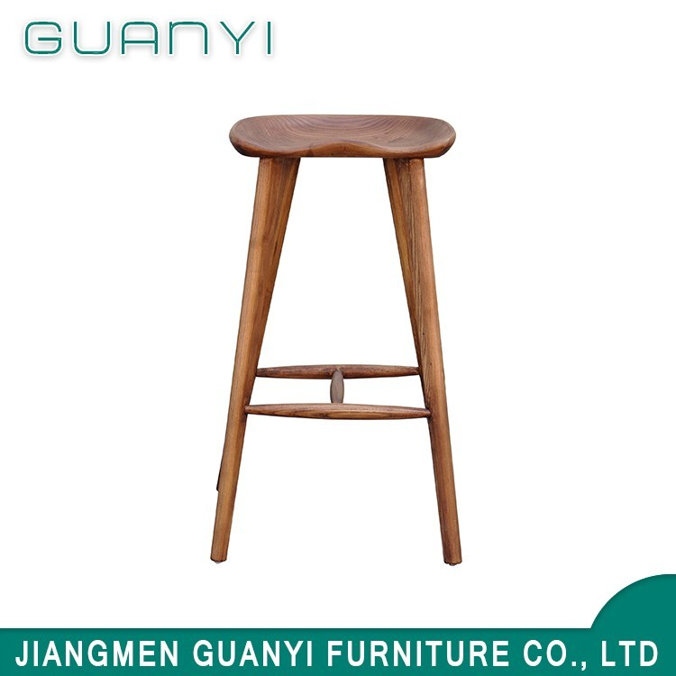 China Wooden Bar Stools For Kitchen