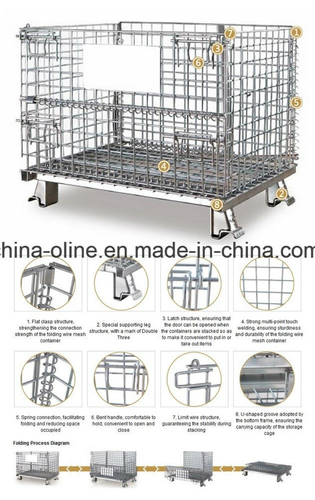 Steel Storage Equipment Wire Mesh Container pictures & photos