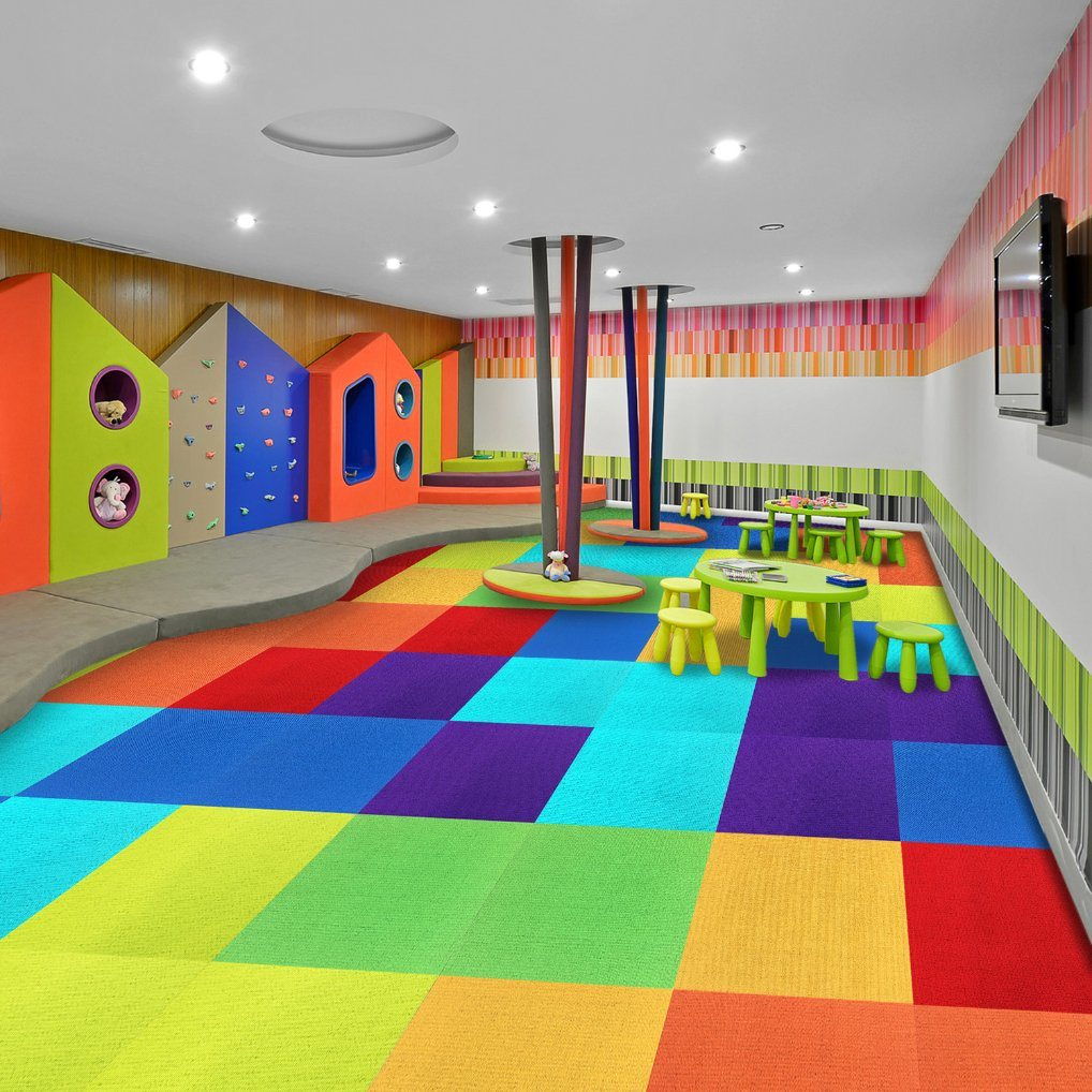 China River Jiang 110 Gauge Pp Flooring Carpet Tiles With Bitumen