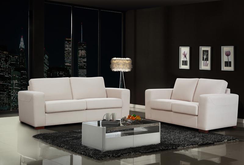 China Creamy White Modern Design Fabric, White Modern Sofa