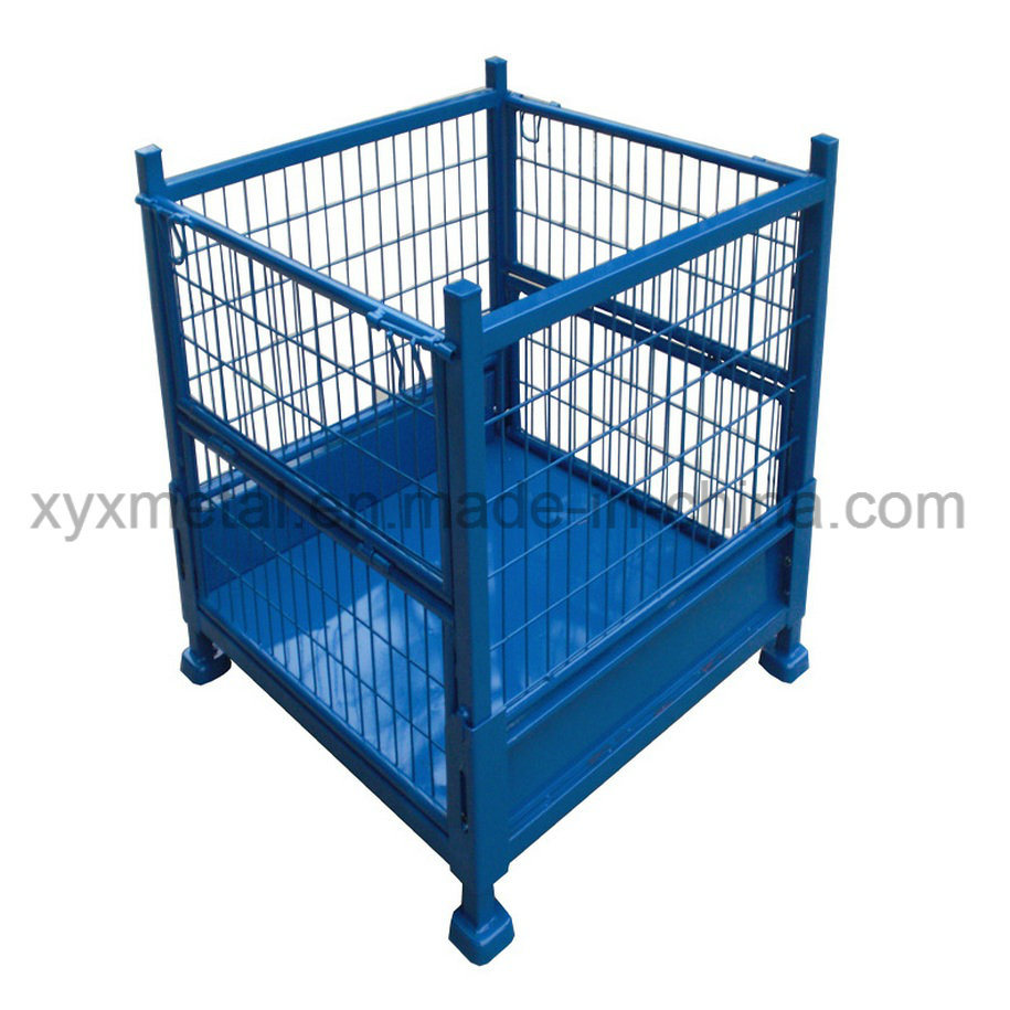 China Exported Collapsible Pallet Stillage Wire Mesh Cage Made in ...