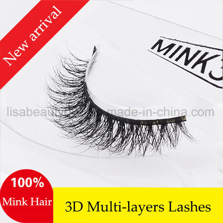 68ce14fb222 High Quality 3D Luxury Real Natural Mink Lashes Hot Sale False Eyelashes