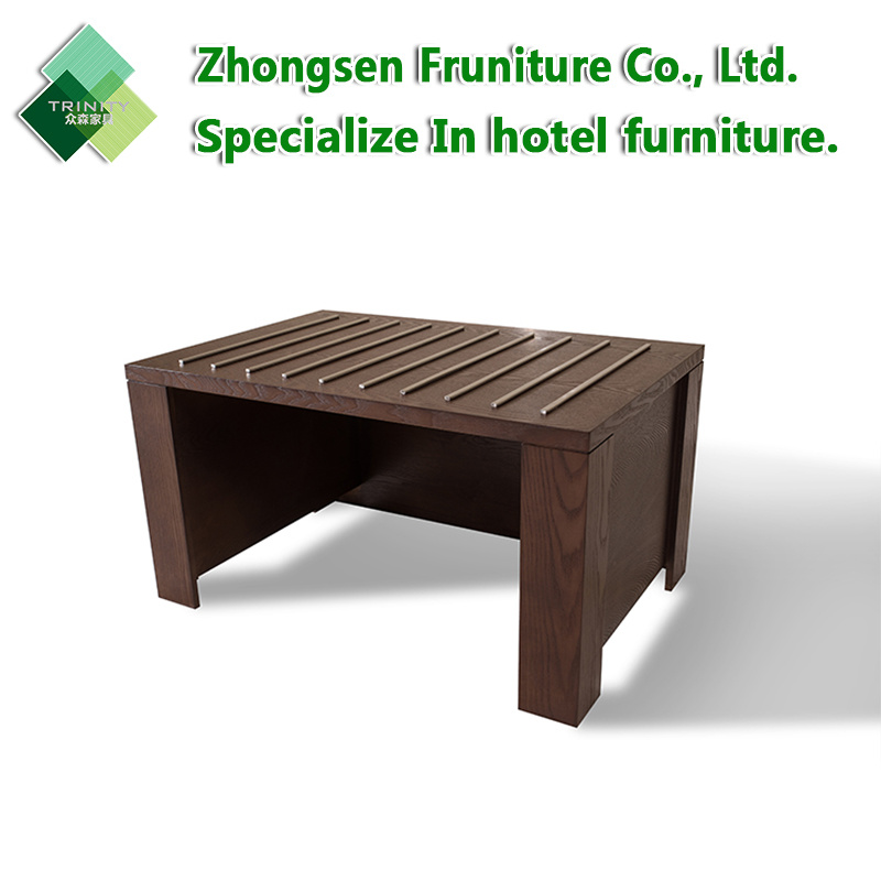 Customization Modern 5 Star Hotel Wooden Luge Rack Furniture For Bedroom