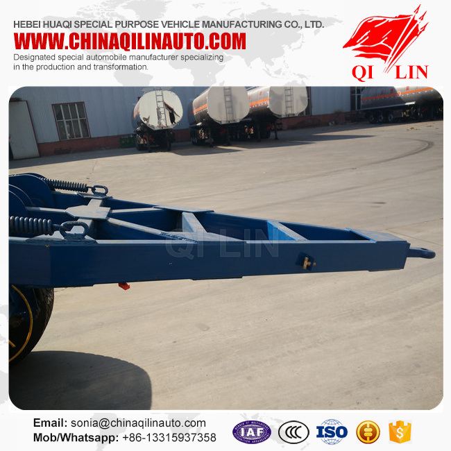 2 Axles Drawbar Full Trailer for Sale pictures & photos