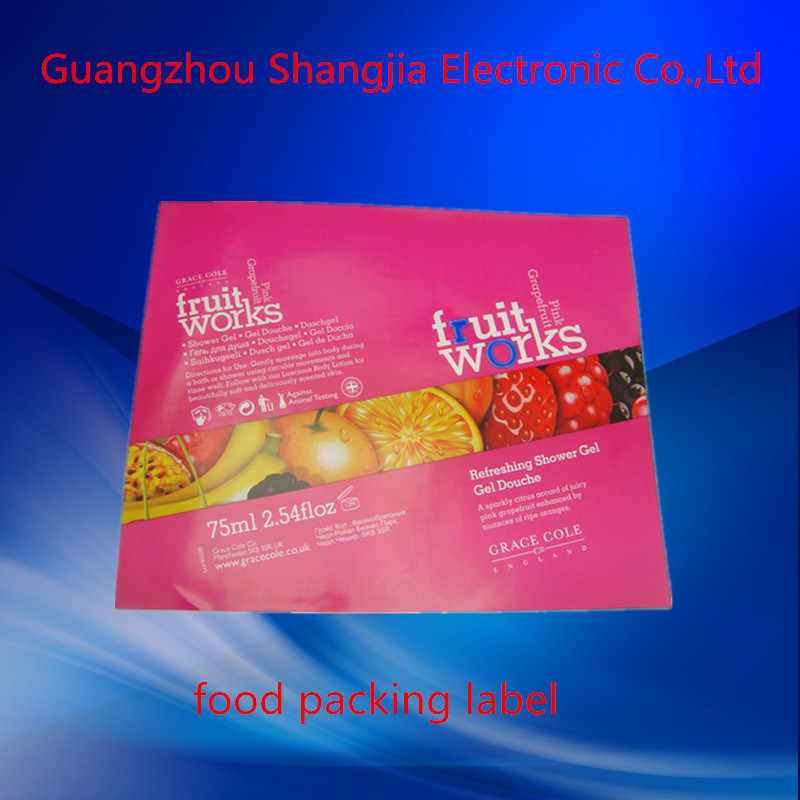 [Hot Item] Printing High Quality Waterproof Adhesive Imported Food Label