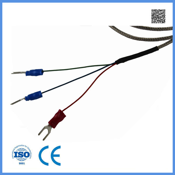 China 3 Wire Wzp PT100 with Ss304 Metal Shielded Wire Temperature ...