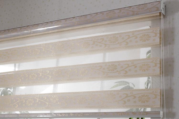 China Jacquard Fabric Manual Chain Control Zebra Blinds