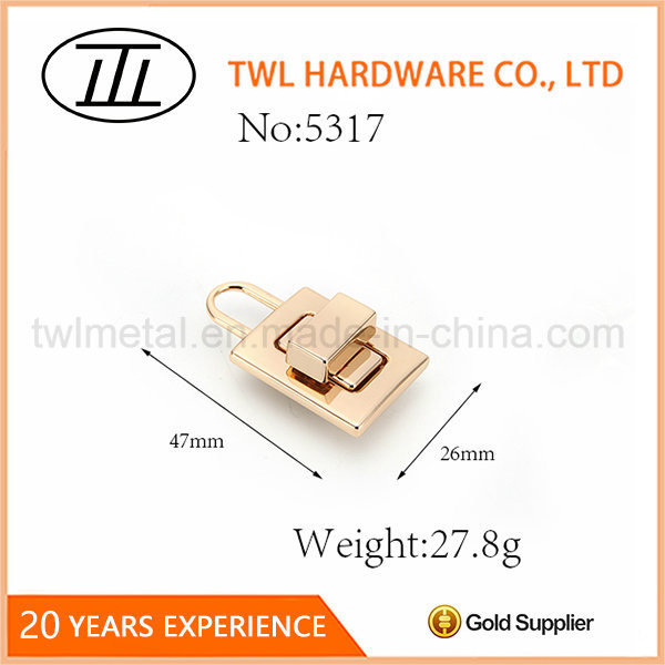 Lock Shaped Rectangle Thin Bags Turn Lock Hardware