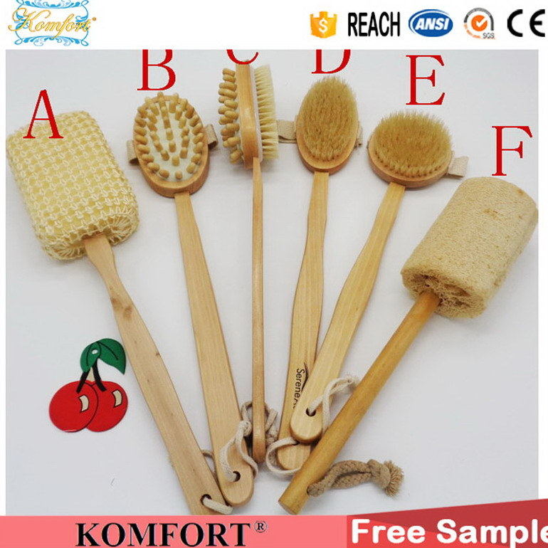 Wet Boar Bristle Skin Scrubber SPA Leg Exfoliating Bath Body Brush (JMHF-92) pictures & photos